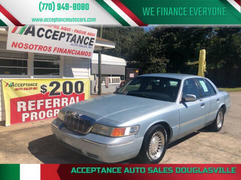 2002 Mercury Grand Marquis for sale at Acceptance Auto Sales Douglasville in Douglasville GA