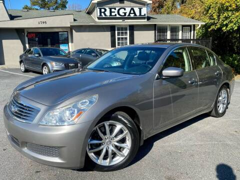 2009 Infiniti G37 Sedan for sale at Regal Auto Sales in Marietta GA