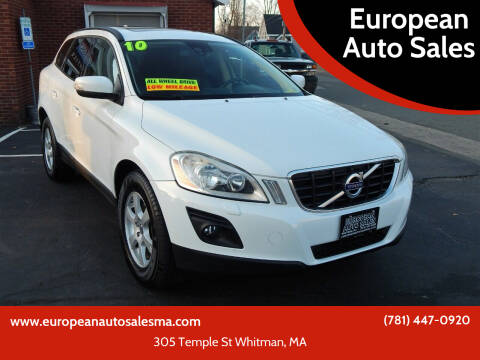 2010 Volvo XC60 for sale at European Auto Sales in Whitman MA