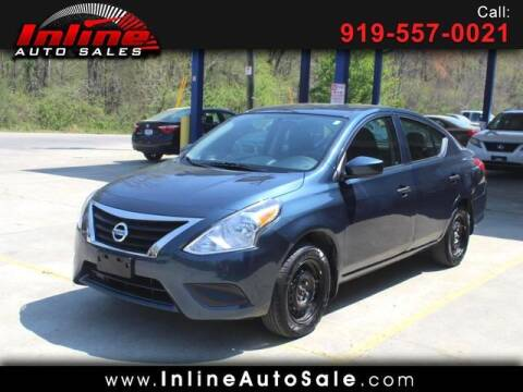 2016 Nissan Versa for sale at Inline Auto Sales in Fuquay Varina NC