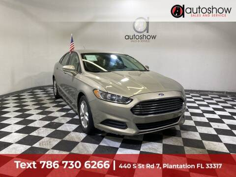 2016 Ford Fusion for sale at AUTOSHOW SALES & SERVICE in Plantation FL