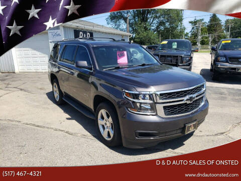 2015 Chevrolet Tahoe for sale at D & D Auto Sales Of Onsted in Onsted MI