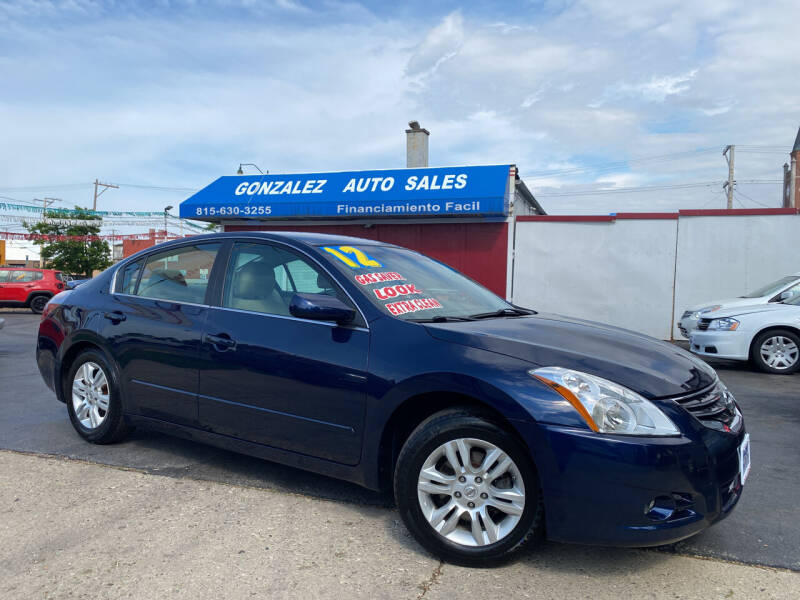 2012 Nissan Altima for sale at Gonzalez Auto Sales in Joliet IL