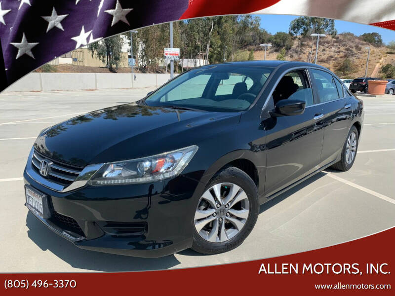 2014 Honda Accord for sale at Allen Motors, Inc. in Thousand Oaks CA