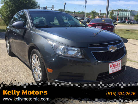 2013 Chevrolet Cruze for sale at Kelly Motors in Johnston IA