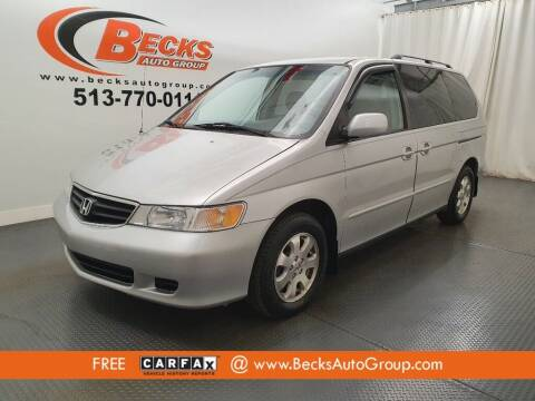 2004 Honda Odyssey for sale at Becks Auto Group in Mason OH