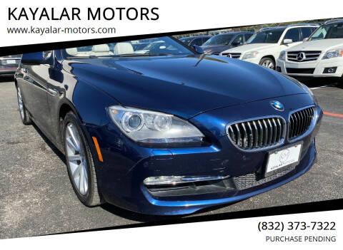2012 BMW 6 Series for sale at KAYALAR MOTORS in Houston TX