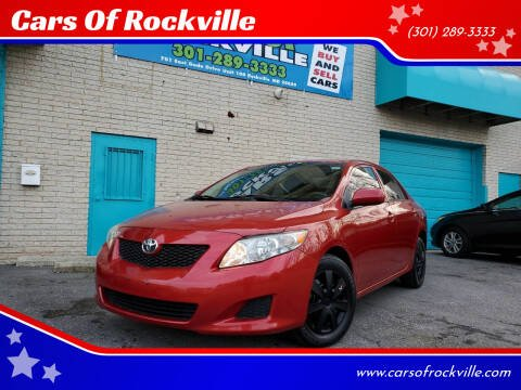2009 Toyota Corolla for sale at Cars Of Rockville in Rockville MD