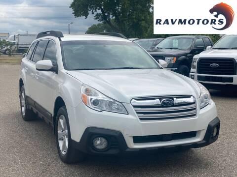 2014 Subaru Outback for sale at RAVMOTORS in Burnsville MN