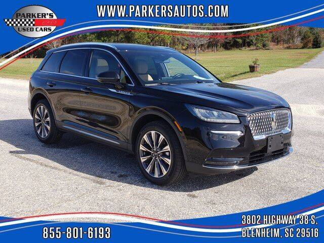 2020 Lincoln Corsair for sale at Parker's Used Cars in Blenheim SC