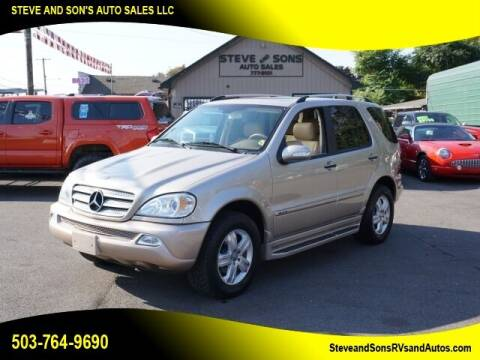 2005 Mercedes-Benz M-Class for sale at Steve & Sons Auto Sales in Happy Valley OR