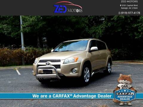 2009 Toyota RAV4 for sale at Zed Motors in Raleigh NC