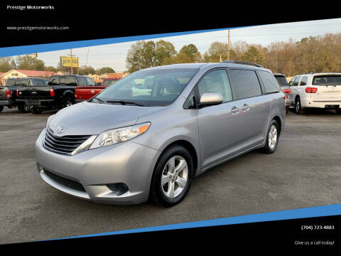 2012 Toyota Sienna for sale at Prestige Motorworks in Concord NC
