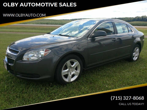 2012 Chevrolet Malibu for sale at OLBY AUTOMOTIVE SALES in Frederic WI