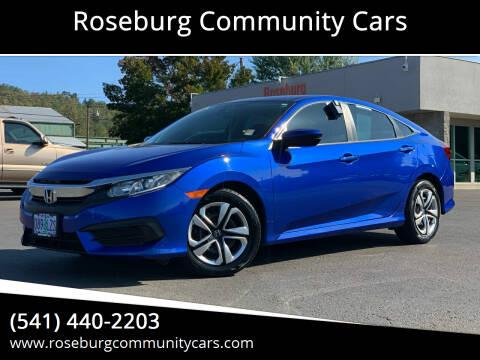 2016 Honda Civic for sale at Roseburg Community Cars in Roseburg OR