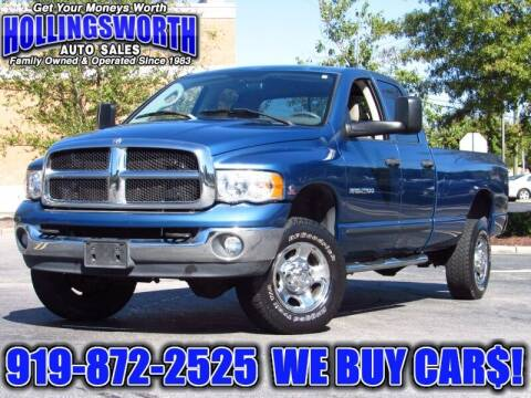 2004 Dodge Ram Pickup 2500 for sale at Hollingsworth Auto Sales in Raleigh NC