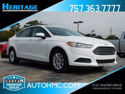 2015 Ford Fusion for sale at Heritage Motor Company in Virginia Beach VA