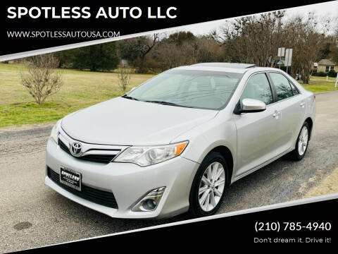 2012 Toyota Camry for sale at SPOTLESS AUTO LLC in San Antonio TX