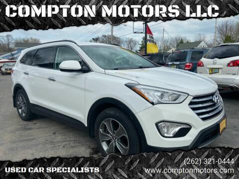 2015 Hyundai Santa Fe for sale at COMPTON MOTORS LLC in Sturtevant WI