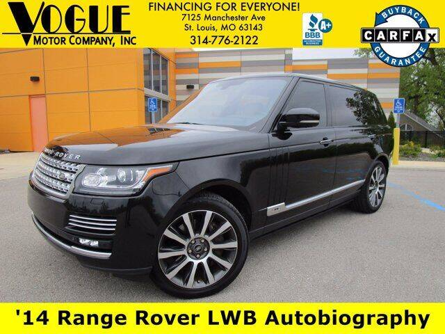 2014 Land Rover Range Rover for sale at Vogue Motor Company Inc in Saint Louis MO
