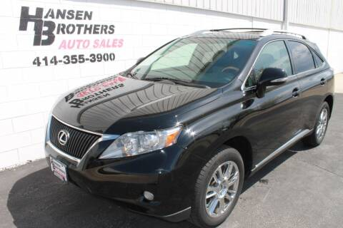 2011 Lexus RX 350 for sale at HANSEN BROTHERS AUTO SALES in Milwaukee WI