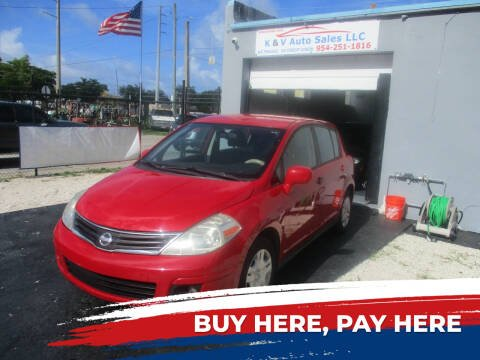 2010 Nissan Versa for sale at K & V AUTO SALES LLC in Hollywood FL