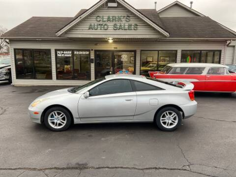 2000 Toyota Celica for sale at Clarks Auto Sales in Middletown OH