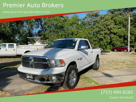 2015 RAM Ram Pickup 1500 for sale at Premier Auto Brokers in Virginia Beach VA