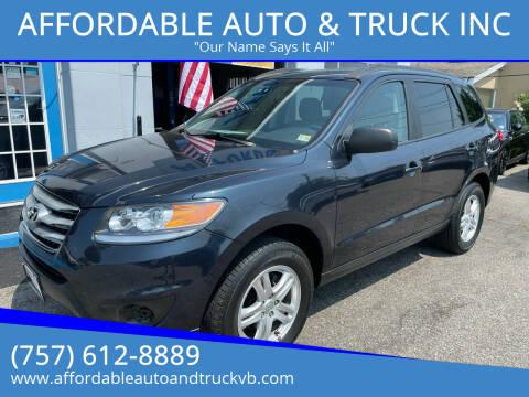 2012 Hyundai Santa Fe for sale at AFFORDABLE AUTO & TRUCK INC in Virginia Beach VA