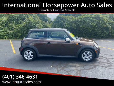 2011 MINI Cooper for sale at International Horsepower Auto Sales in Warwick RI