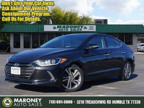 2017 Hyundai Elantra for sale at Maroney Auto Sales in Humble TX