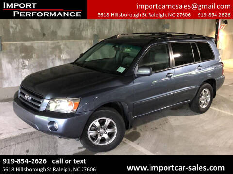 2007 Toyota Highlander for sale at Import Performance Sales in Raleigh NC