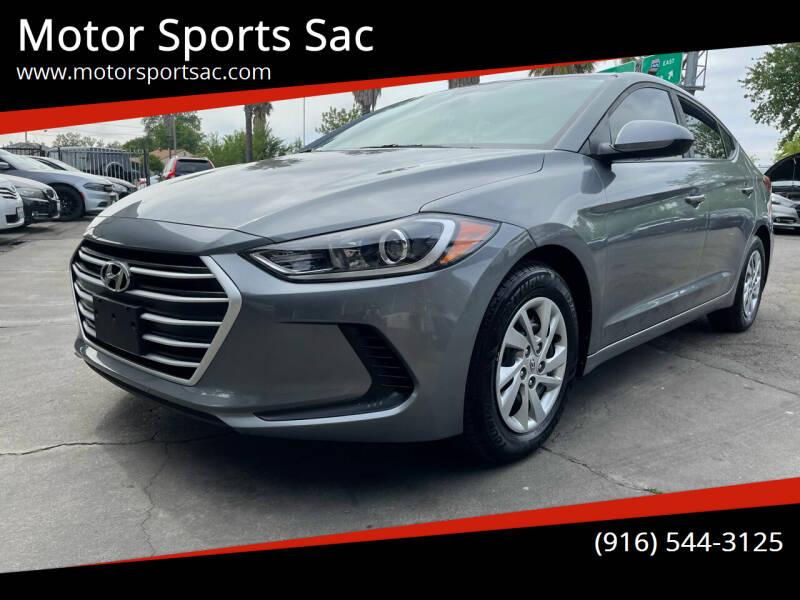 2018 Hyundai Elantra for sale at Motor Sports Sac in Sacramento CA