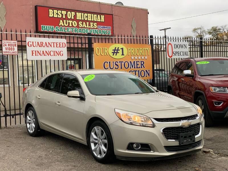 2014 Chevrolet Malibu for sale at Best of Michigan Auto Sales in Detroit MI