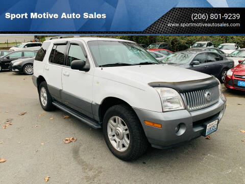 2003 Mercury Mountaineer for sale at Sport Motive Auto Sales in Seattle WA