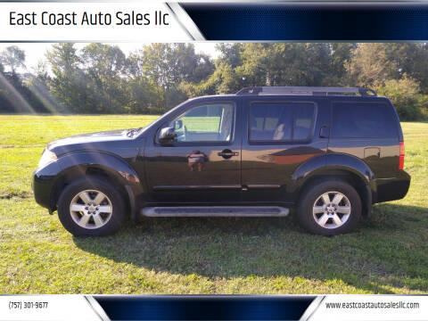 2011 Nissan Pathfinder for sale at East Coast Auto Sales llc in Virginia Beach VA