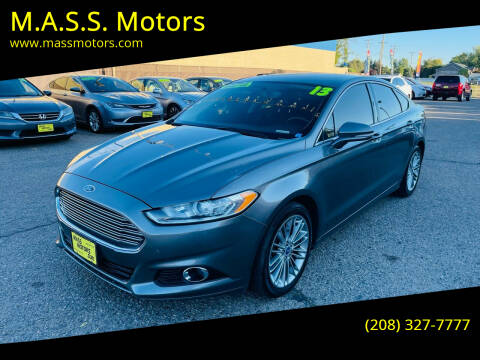 2013 Ford Fusion for sale at M.A.S.S. Motors in Boise ID