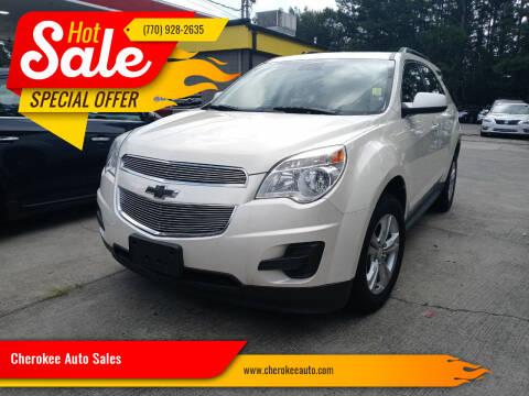 2014 Chevrolet Equinox for sale at Cherokee Auto Sales in Acworth GA