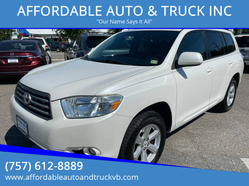 2010 Toyota Highlander for sale at AFFORDABLE AUTO & TRUCK INC in Virginia Beach VA