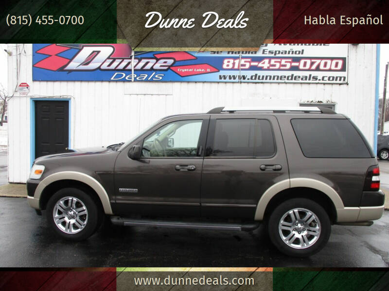 2007 Ford Explorer for sale at Dunne Deals in Crystal Lake IL