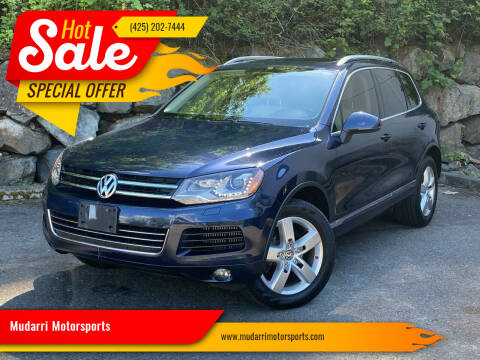 2014 Volkswagen Touareg for sale at Mudarri Motorsports in Kirkland WA