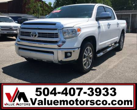 2015 Toyota Tundra for sale at Value Motors Company in Marrero LA