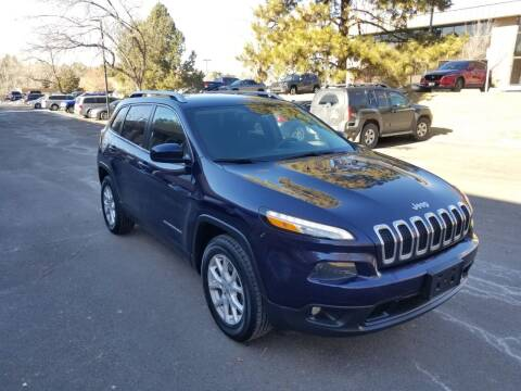 2015 Jeep Cherokee for sale at QUEST MOTORS in Englewood CO