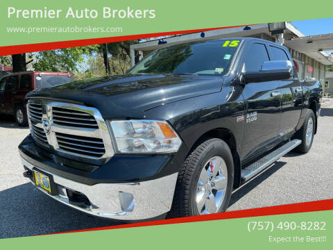 2015 RAM Ram Pickup 1500 for sale at Premier Auto Brokers in Virginia Beach VA