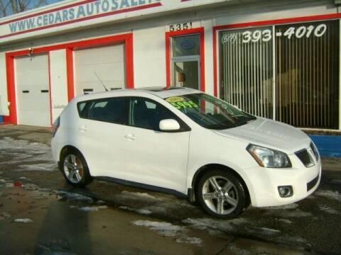 2009 Pontiac Vibe for sale at Cedar Auto Sales in Lansing MI