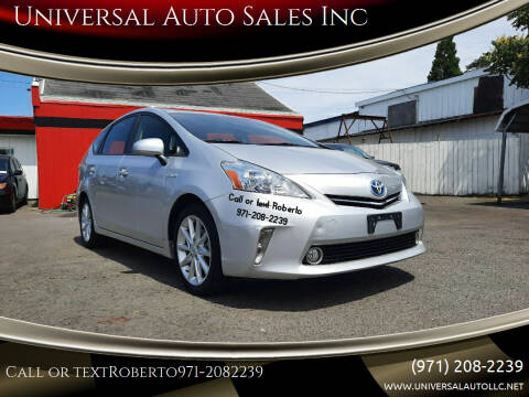 2012 Toyota Prius v for sale at Universal Auto Sales Inc in Salem OR