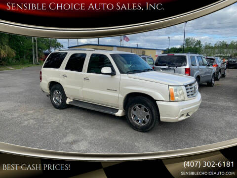 2002 Cadillac Escalade for sale at Sensible Choice Auto Sales, Inc. in Longwood FL