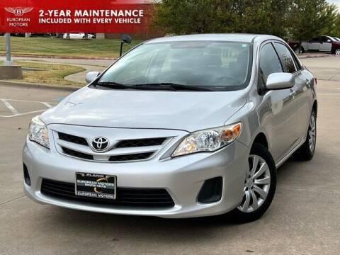 2012 Toyota Corolla for sale at European Motors Inc in Plano TX