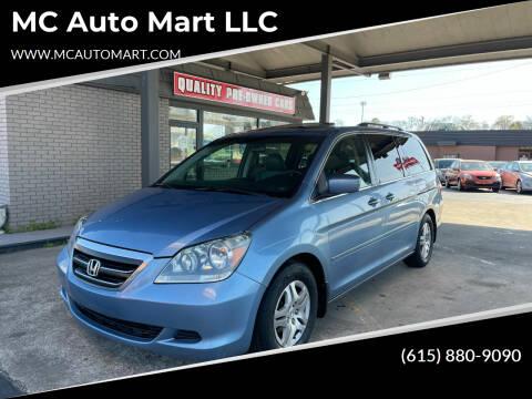 2007 Honda Odyssey for sale at MC Auto Mart LLC in Hermitage TN
