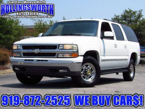 2002 Chevrolet Suburban for sale at Hollingsworth Auto Sales in Raleigh NC